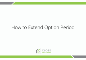 How to Extend Option Period
